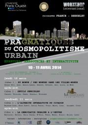 «Pragmatiques du cosmopolitisme urbain : Epreuves, ressoures et interactivté »