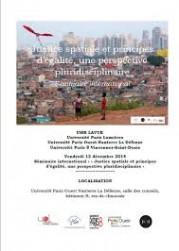 « Justice spatiale et principes d'égalité, une perspective pluridisciplinaire