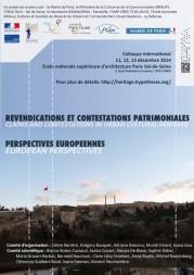 Colloque internationale « Revendications et Contestations patrimoniales. Perspectives européennes »