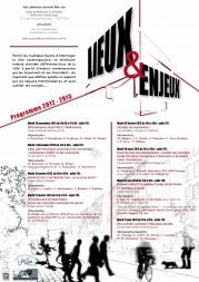 Séminaire  «Lieux et Enjeux» 2012-2013