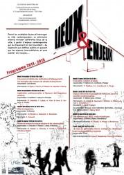 2014-2015 : Séminaire «Lieux et Enjeux»