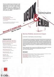 Séminaire « Lieux et Enjeux » 2015-2016