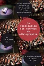 Colloque International « La Restitution des données en ethnographie »