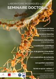 Programme du séminaire doctoral Mosaïques 2019-2020