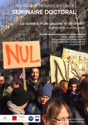Séminaire doctoral Mosaïques – La science, ni de gauche, ni de droite ?