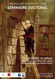 Séminaire doctoral Mosaïques – La biblio, le retour